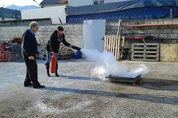 miniatura corso antincendio rischio alto basso medio